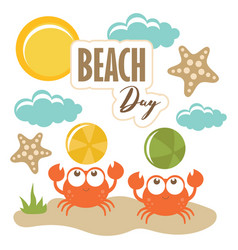 crabs bacute print sweet vector image