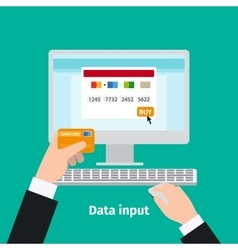 Credit plastic card usage data input vector