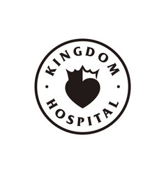 Crown heart logo design icon vector