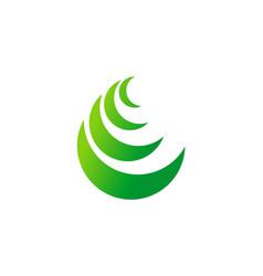 Curve bio ecology logo vector