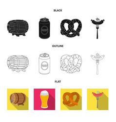 Design pub and bar logo set pub and vector