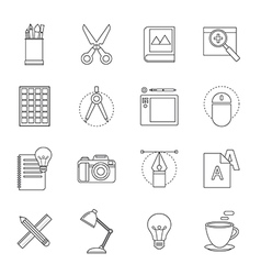 Designer tool thin line icon vector