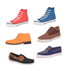 Different kind of shoes vector