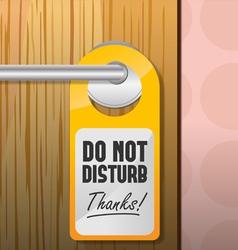 Do not disturb sign vector