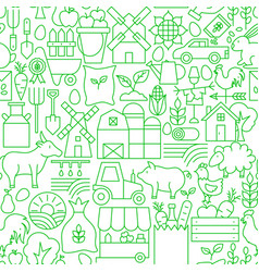 farming line seamless pattern vector image
