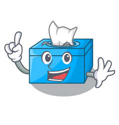 Finger tissue box isolated on the mascot vector
