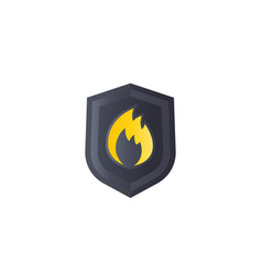 fire protection logo mark vector image