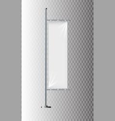flag mockup banner flag templates set of vector image