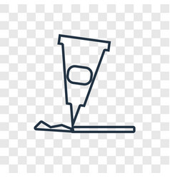 glue concept linear icon isolated on transparent vector image