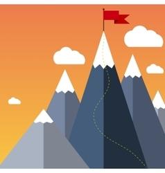 Goal Achievement or Success Concept vector image