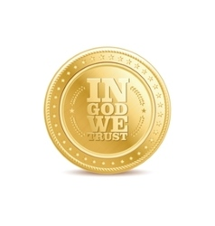 golden finance isolated dollar coin with text vector image