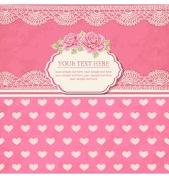 Greeting card Vintage background with lace vector image