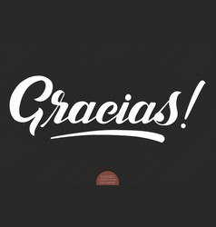 hand drawn lettering gracias elegant vector image