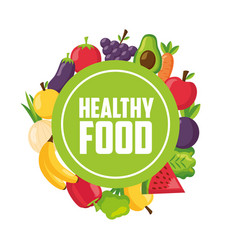 healthy food fresh vector image