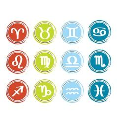 horoscope zodiac signs vector image vector image