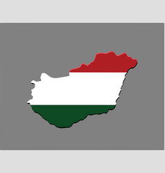 hungary country with the hungarian flag vector image