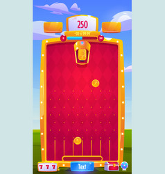 Interface mobile arcade game with coins vector
