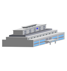 isolated hospital building vector image