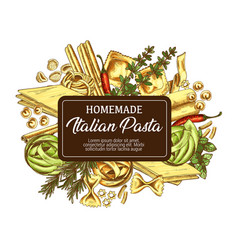 Italian pasta with seasonings icon sketch vector