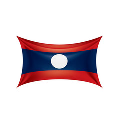 laos flag on a white vector image