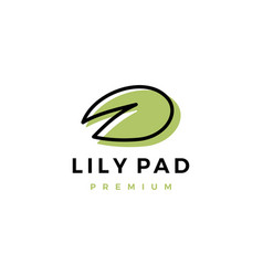 Lily pad logo icon vector