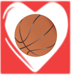 Love basketball vector