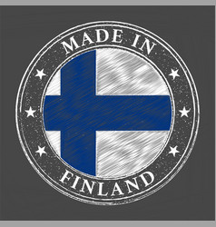 Made in finland template vector