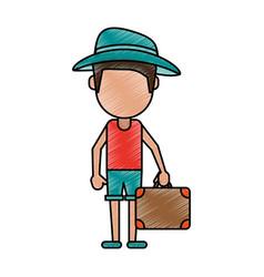 Man tourist vector