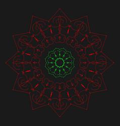 Mandala artwork design pattern ornament circle vector