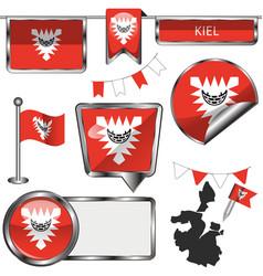 Map kiel germany vector