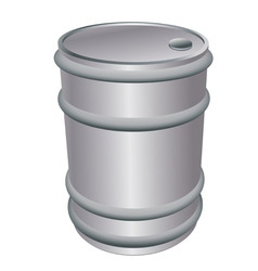 Metallic barrel vector