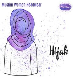 Muslim Women Headwear vector