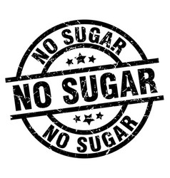 No sugar round grunge black stamp vector