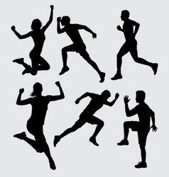 physical training silhouette vector image