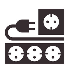 Power outlet plug and socket sign vector