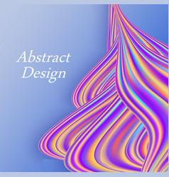 rainbow color flow wave trendy modern background vector image