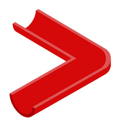 Red gutter pipe icon isometric style vector
