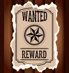 retro and vintage wanted poster design vector image