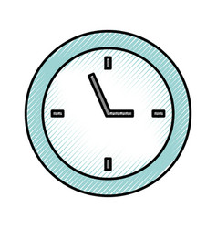 Scribble clock cartoon vector