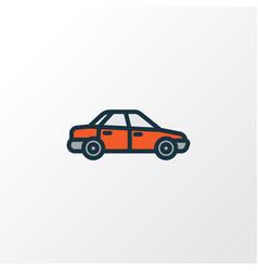 Sedan colorful outline symbol premium quality vector