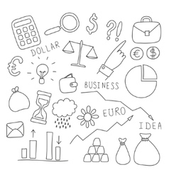 Set of business and finance elements vector image