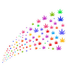 source stream of cannabis vector image