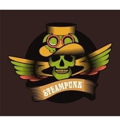 Steampunk skull vector image