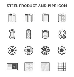 Steel metal icon vector