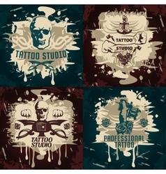 Tattoo Studio Designs vector
