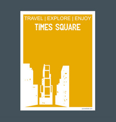 time square new york usa monument landmark vector image