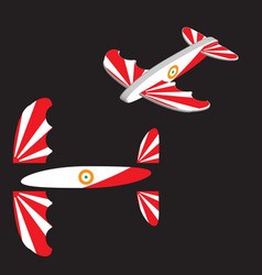 Toy plane airplane eps 10 vector