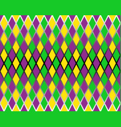 traditional mardi gras seamless pattern vector image