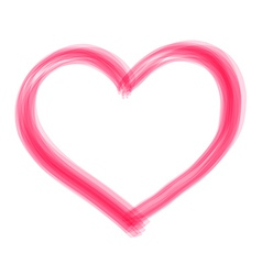 Transparent brush heart vector