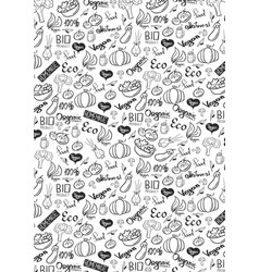 Vegetarian banner with hand-draw doodle vector